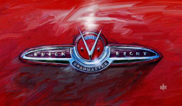 Wall Art - Digital Art - 1953 Buick Super Convertible Trunk Emblem by Garth Glazier