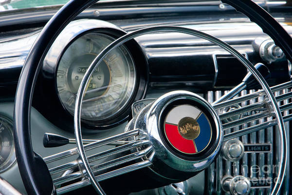 Dashboard Digital Art - 1953 Buick Super Dashboard And Steering Wheel by Jerry Fornarotto