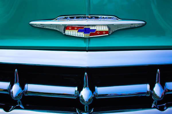 Chevrolet Bel Air Photograph - 1953 Chevrolet Belair Grille Emblem by Jill Reger