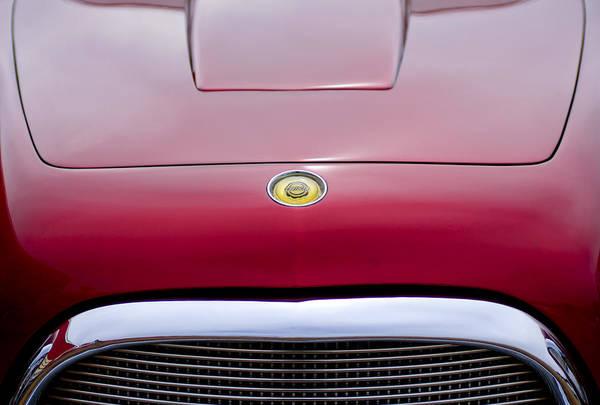 Photograph - 1953 Chrysler Gs-1 Ghia Hood Emblem - Grille by Jill Reger