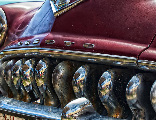 Photograph - 1953 De Soto Grille by Thomas Hall