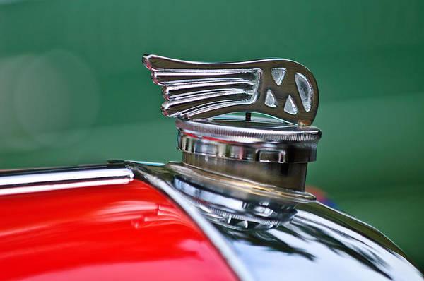 1953 Photograph - 1953 Morgan Plus 4 Le Mans Tt Special Hood Ornament by Jill Reger