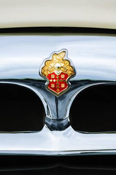Clipper Wall Art - Photograph - 1953 Packard Clipper Deluxe Sedan Grille Emblem by Jill Reger