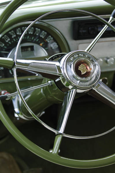 Car Part Photograph - 1953 Pontiac Steering Wheel by Jill Reger