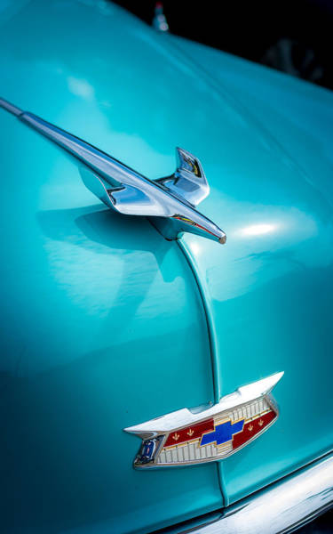 Photograph - 1954 Bel Air Hood Ornament by David Morefield