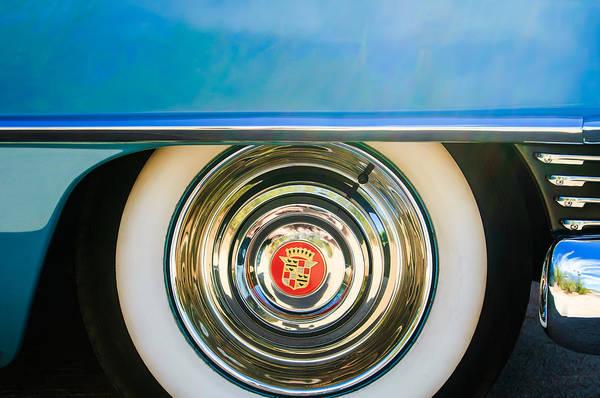 Photograph - 1954 Cadillac Coupe Deville Wheel Emblem by Jill Reger