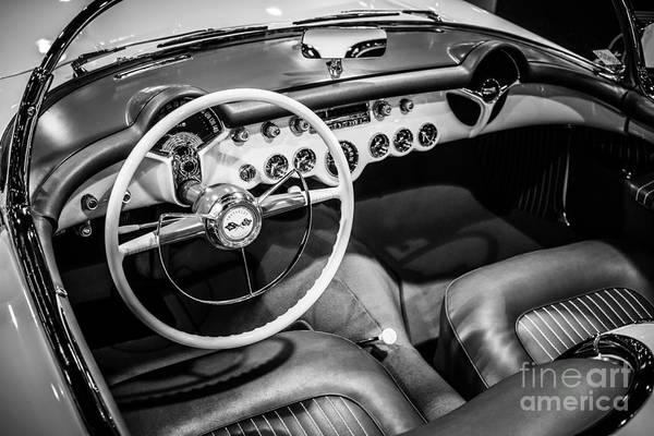 Sportscar Photograph - 1954 Chevrolet Corvette Interior by Paul Velgos
