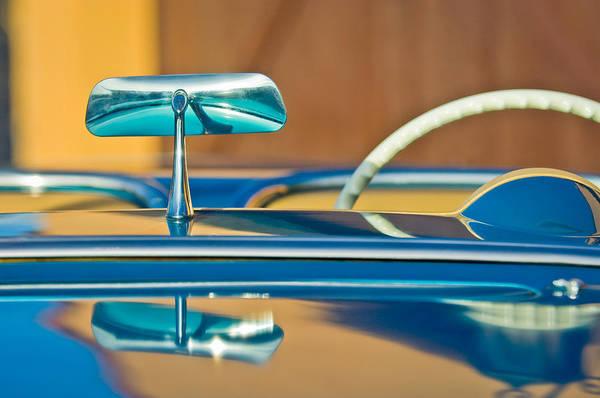 Convertible Photograph - 1954 Chevrolet Corvette Steering Wheel -311c by Jill Reger