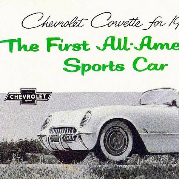 Chevrolet Corvette Photograph - #1954 #chevrolet #corvette by Zipquote Com