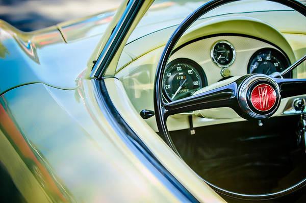 Photograph - 1954 Fiat 1100 Berlinetta Stanguellini Bertoneo Steering Wheel -1770c by Jill Reger