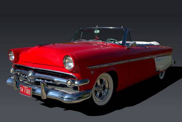 Photograph - 1954 Ford Convertible Sunliner by Tim McCullough