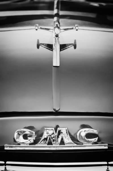 Photograph - 1954 Gmc Pickup Truck Hood Ornament - Emblem by Jill Reger