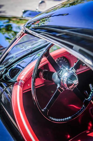 Photograph - 1954 Jaguar Xk120 Roadster Steering Wheel -0500c by Jill Reger