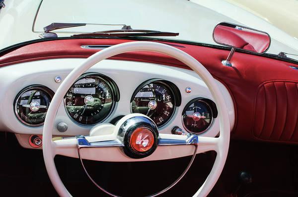 Roadsters Photograph - 1954 Kaiser-darrin Roadster Steering Wheel by Jill Reger