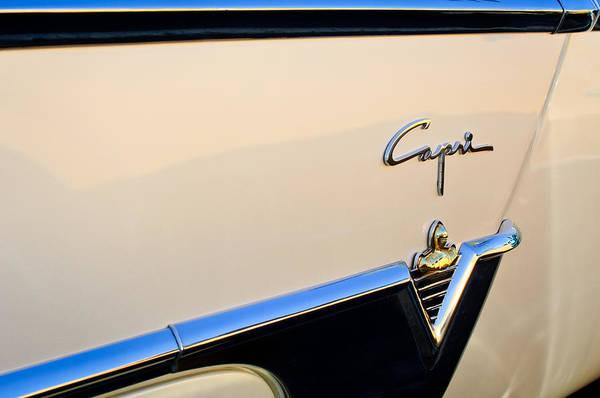 Convertible Photograph - 1954 Lincoln Capri Convertible Emblem 2 by Jill Reger