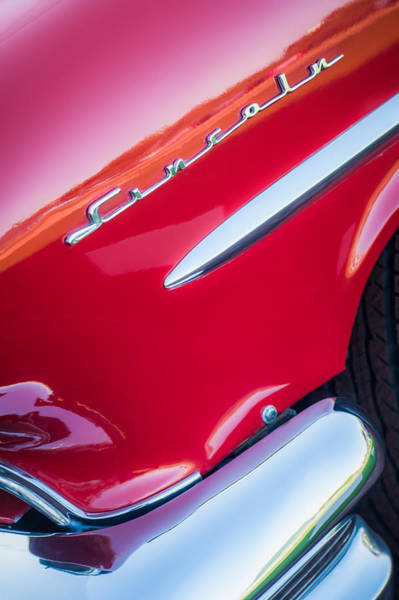 Photograph - 1954 Lincoln Capri Side Emblem by Jill Reger