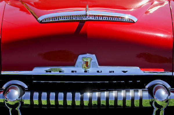 Photograph - 1954 Mercury Monterey Grille Emblem by Jill Reger