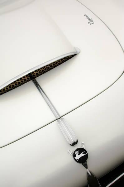 Photograph - 1954 Pegaso Z-102 Saoutchik Coupe Hood Emblem -0583c by Jill Reger