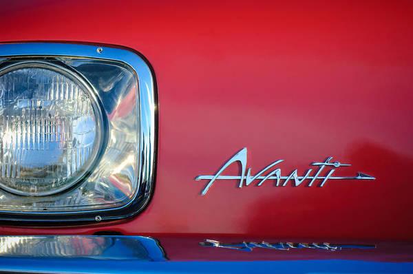 Photograph - 1954 Studebaker Avanti Emblem -0281c by Jill Reger