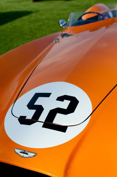 Photograph - 1955 Aston Martin Db3s Hood Emblem by Jill Reger