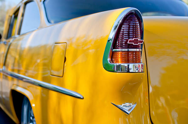 Photograph - 1955 Chevrolet 210 Taillight Emblem -0371c by Jill Reger