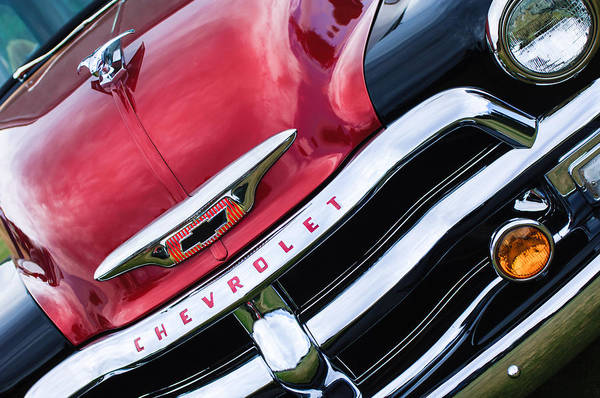 Photograph - 1955 Chevrolet 3100 Pickup Truck Grille Emblem by Jill Reger