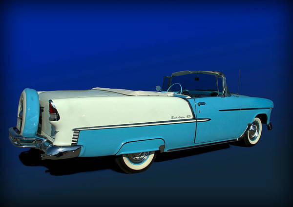 Photograph - 1955 Chevrolet Bel Air Convertible With Continental Kit by Tim McCullough
