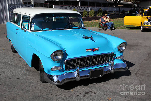 Wall Art - Photograph - 1955 Chevrolet Bel Air Stationwagon 5d26562 by Wingsdomain Art and Photography