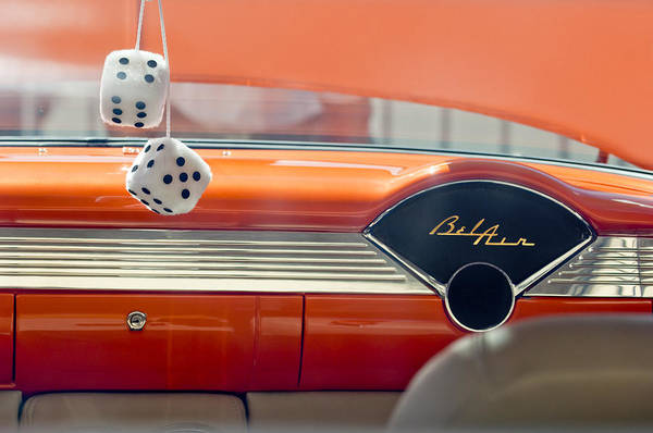 Chevrolet Bel Air Photograph - 1955 Chevrolet Belair Dashboard by Jill Reger
