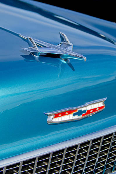Wall Art - Photograph - 1955 Chevrolet Belair Hood Ornament 7 by Jill Reger