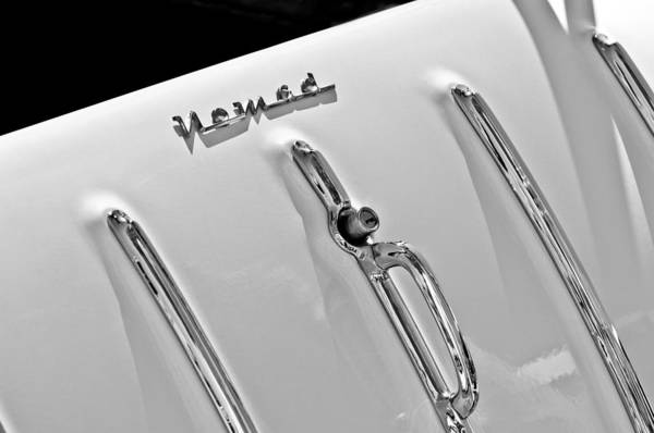 Nomad Photograph - 1955 Chevrolet Belair Nomad Tailgate Emblem by Jill Reger