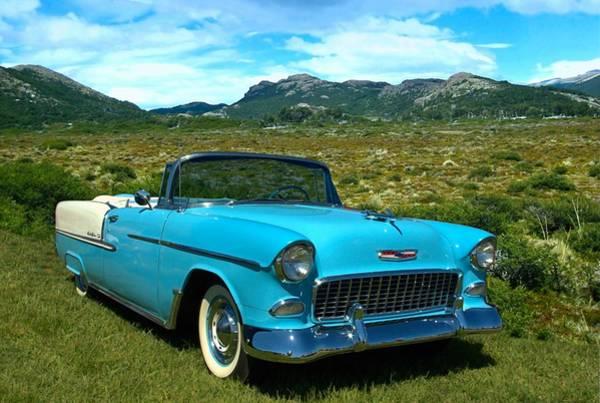 1955 Chevrolet Convertible Art Print