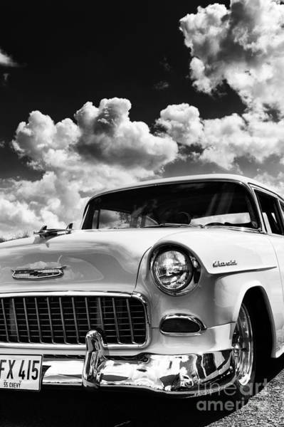 Chevy Bel Air Photograph - 1955 Chevrolet Monochrome by Tim Gainey