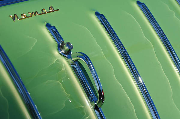 Nomad Photograph - 1955 Chevrolet Nomad Belair Tailgate Emblem by Jill Reger
