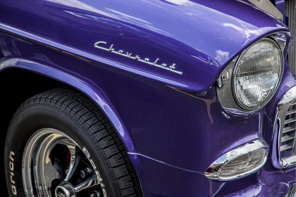 V8 Engine Photograph - 1955 Chevrolet Purple Monster by Rich Franco