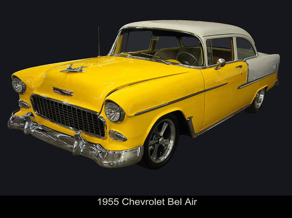 Photograph - 1955 Chevy Bel Air Harvest Gold by Chris Flees