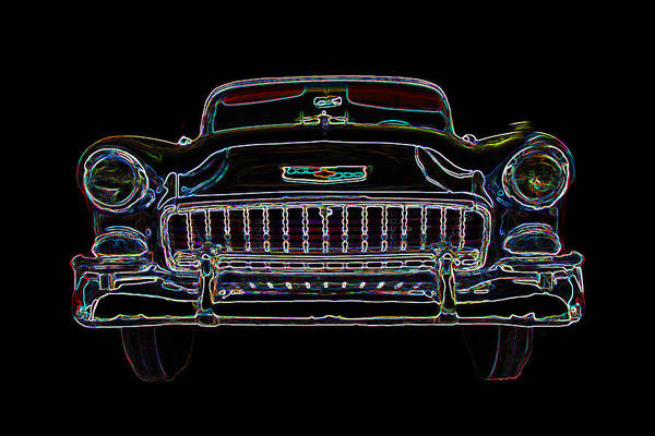 1955 Chevy Digital Art - 1955 Chevy Bel Air  by Patsy Zedar