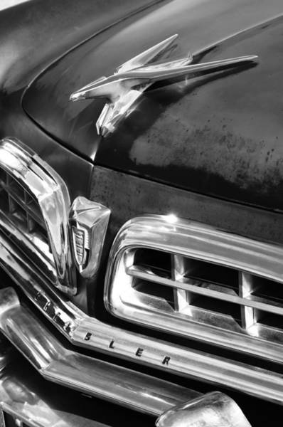 Photograph - 1955 Chrysler Hood Ornament Emblem by Jill Reger