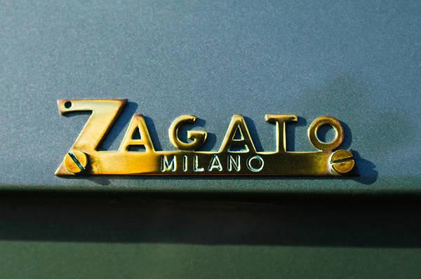 Photograph - 1955 Fiat 8v Zagato Emblem by Jill Reger