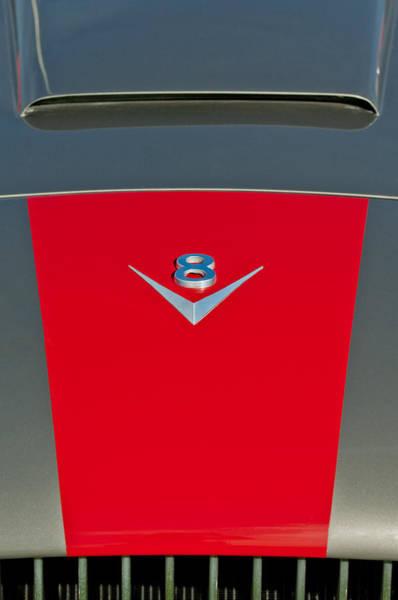 Photograph - 1955 Fiat 8v Zagato Hood Emblem by Jill Reger