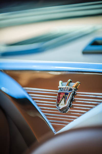 Ford Fairlane Photograph - 1955 Ford Fairlane Crown Victoria Emblem -1608c by Jill Reger
