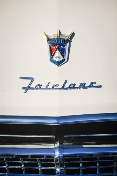 Ford Fairlane Photograph - 1955 Ford Fairlane Crown Victoria Emblem -1713c by Jill Reger