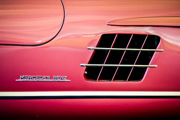 Photograph - 1955 Mercedes-benz 300sl Gullwing Sidel Emblem -0754c by Jill Reger