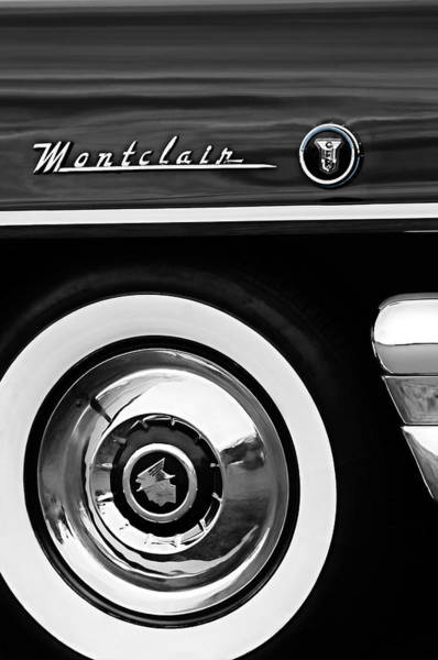 Photograph - 1955 Mercury Montclair Convertible Wheel Emblem by Jill Reger
