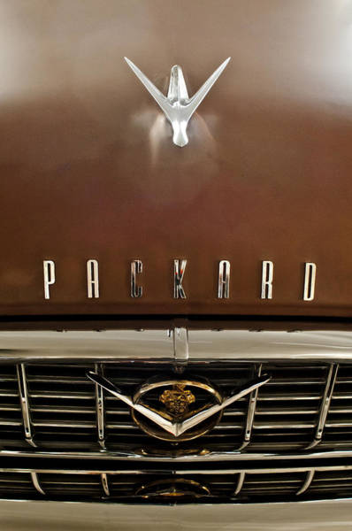Hoodies Photograph - 1955 Packard 400 Hood Ornament by Jill Reger