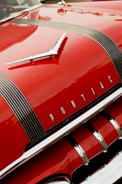 Photograph - 1955 Pontiac Hood Ornament - Emblem -0968c by Jill Reger