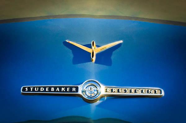 Photograph - 1955 Studebaker President Emblem by Jill Reger