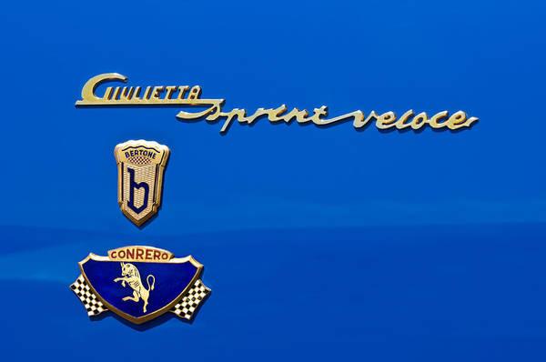 Photograph - 1956 Alfa Romeo Sprint Veloce Coupe Emblem by Jill Reger