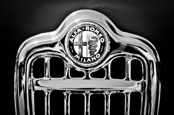 Photograph - 1956 Alfa Romeo Sprint Veloce Coupe Grille Emblem by Jill Reger