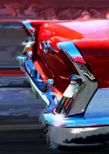 Wall Art - Digital Art - 1956 Buick Century Riviera Sedan Rear View by Garth Glazier